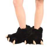 Black Bear Giant Paw Slipper
