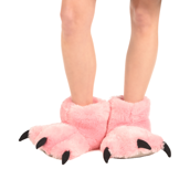 Pink Bear Giant Paw Slipper