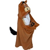 Horse with a Tail Critter Fleece Blanket