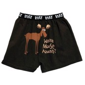 LazyOne Wanna Moose Around? Mens Boxer Shorts