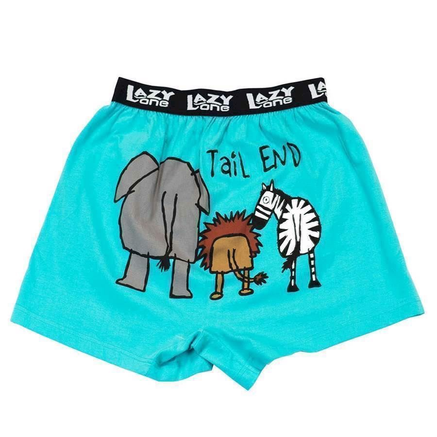 Tail End Zoo Boxer Shorts, Child Small