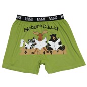LazyOne Nature Calls Mens Boxer Shorts