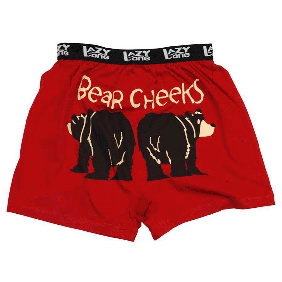 Billede af LazyOne, Bear Cheeks Boxer Shorts, Adult Small