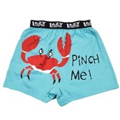LazyOne Pinch Me Crab Mens Boxer Shorts