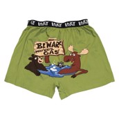 LazyOne Beware of Natural Gas Mens Boxer Shorts