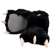 LazyOne Unisex Black Bear Paw Slipper