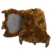 LazyOne Unisex Brown Bear Paw Slipper