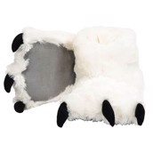 LazyOne Unisex White Bear Paw Slipper