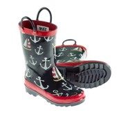 LazyOne Unisex Nautical Rain Boots Kids