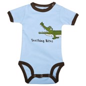 LazyOne Boys Wide Awake Alligator Babygrow Vest