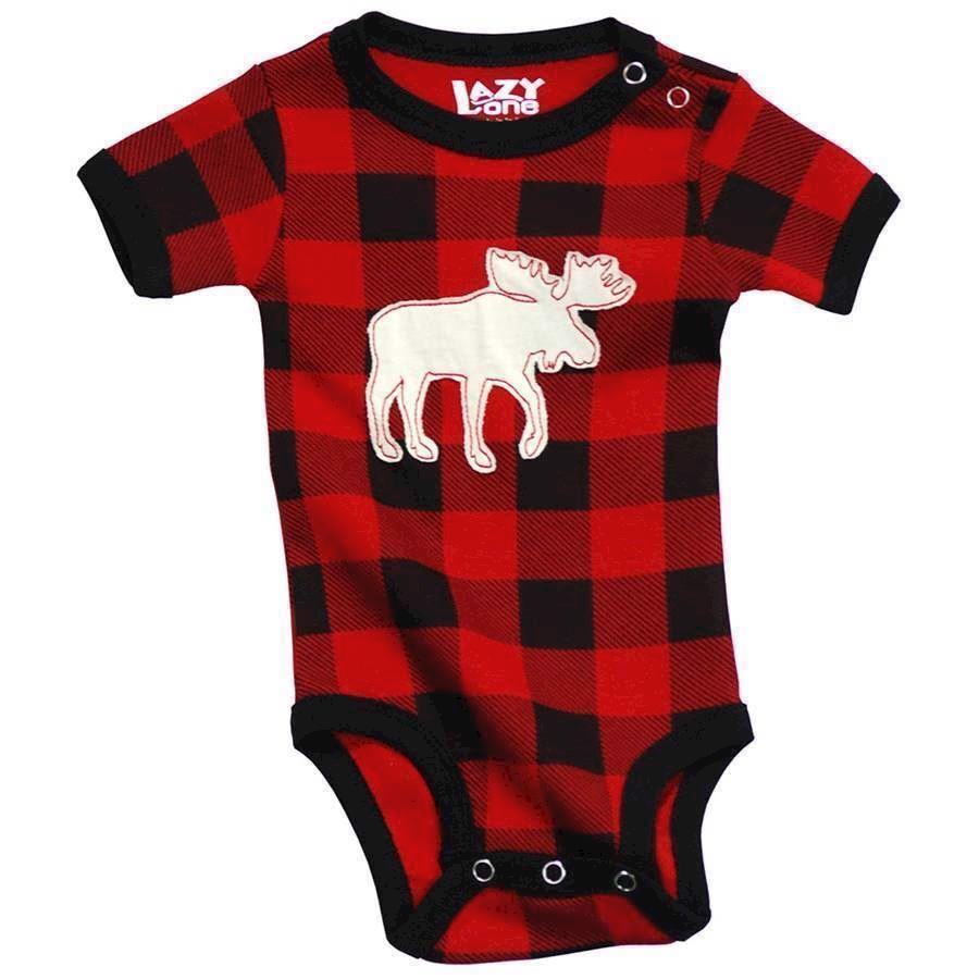 Moose Plaid Creeper, Baby 12 Months