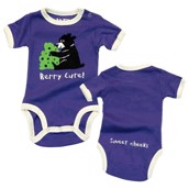 LazyOne Girls Berry Cute Babygrow Vest