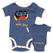 LazyOne Boys Wise Guy Babygrow Vest