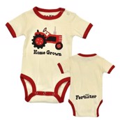 LazyOne Boys Home Grown Babygrow Vest