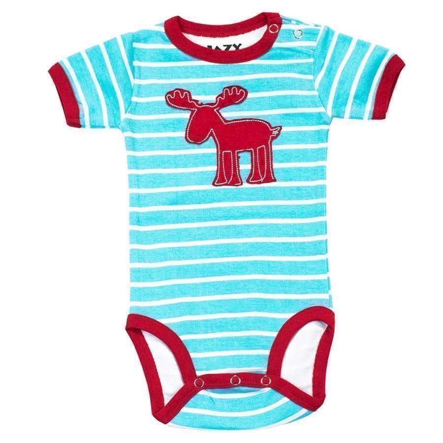Moose Stripe Boys Creeper, Baby 18 Months