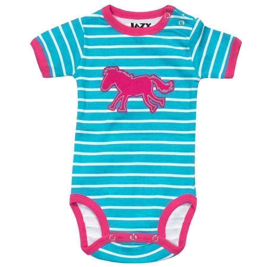 Horse Stripe Girls Creeper, Baby 18 Months