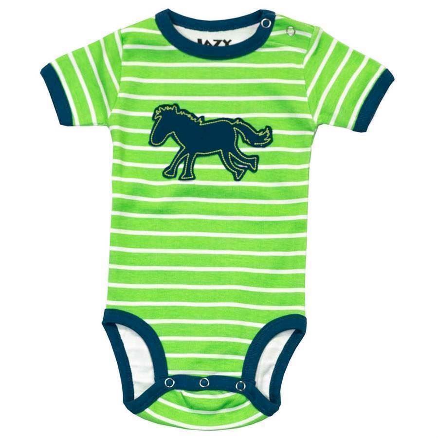 Horse Stripe Boys Creeper, Baby 18 Months