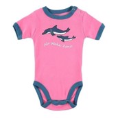 LazyOne Girls No Wake Zone Dolphin Babygrow Vest