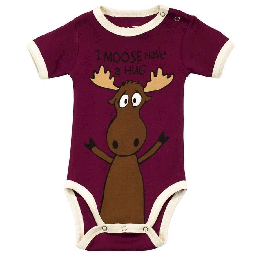 I Moose Have a Hug Girls Creeper, Baby 18 Months