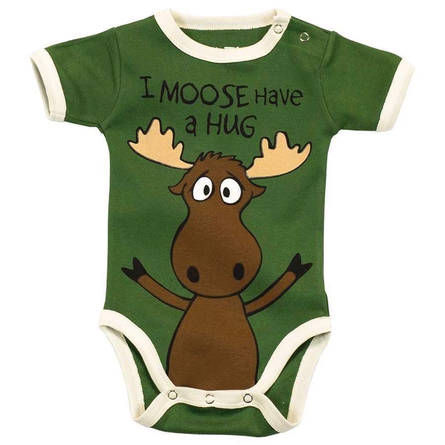 I Moose Have a Hug Boys Creeper, Baby 18 Months
