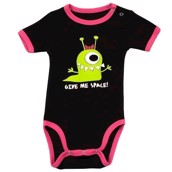 LazyOne Girls Give Me Space Babygrow Vest