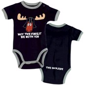 LazyOne Boys May The Forest Be With You Babygrow Vest
