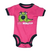 LazyOne Girls Little Monster Babygrow Vest