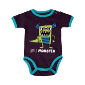 LazyOne Boys Little Monster Babygrow Vest