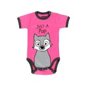 LazyOne Unisex girls Wolf just a Pup Babygrow Vest