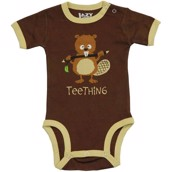 LazyOne Boys Teething Babygrow Vest