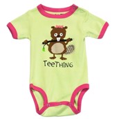LazyOne Girls Teething Babygrow Vest