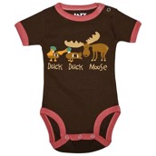 LazyOne Girls Duck Duck Moose Babygrow Vest
