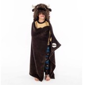 LazyOne Hooded Critter Fleece Blanket Buffalo