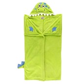 LazyOne Hooded Critter Fleece Blanket Dinosaur