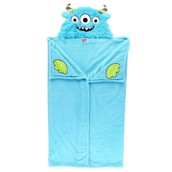 LazyOne Hooded Critter Fleece Blanket Monster