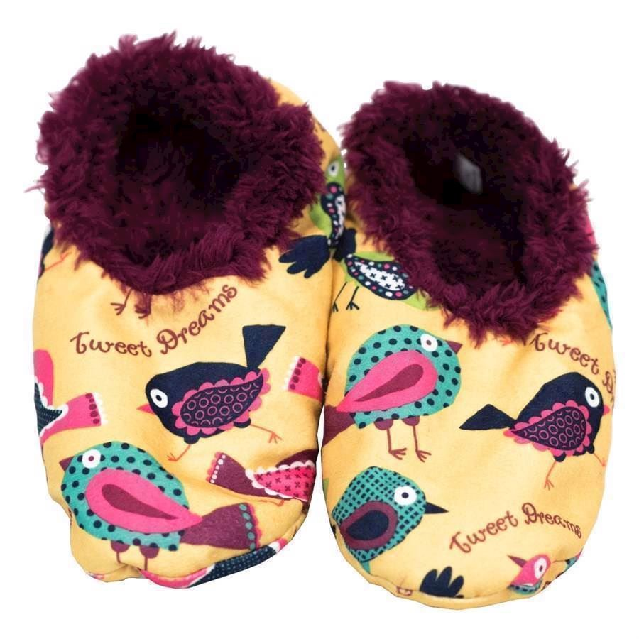 Tweet Dreams Fuzzy Feet Slippers, Adult Small/Medium