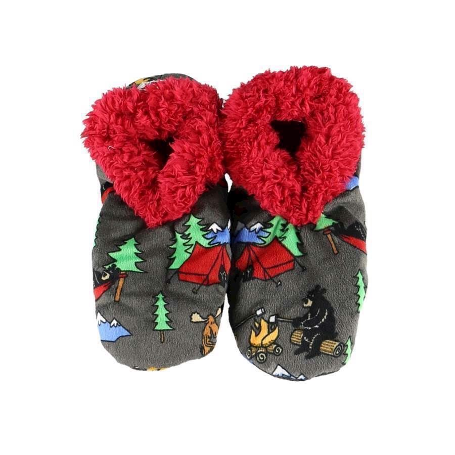 Happy Camper Fuzzy Feet Slippers, Adult