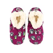 LazyOne Night Owl Fuzzy Feet Slippers