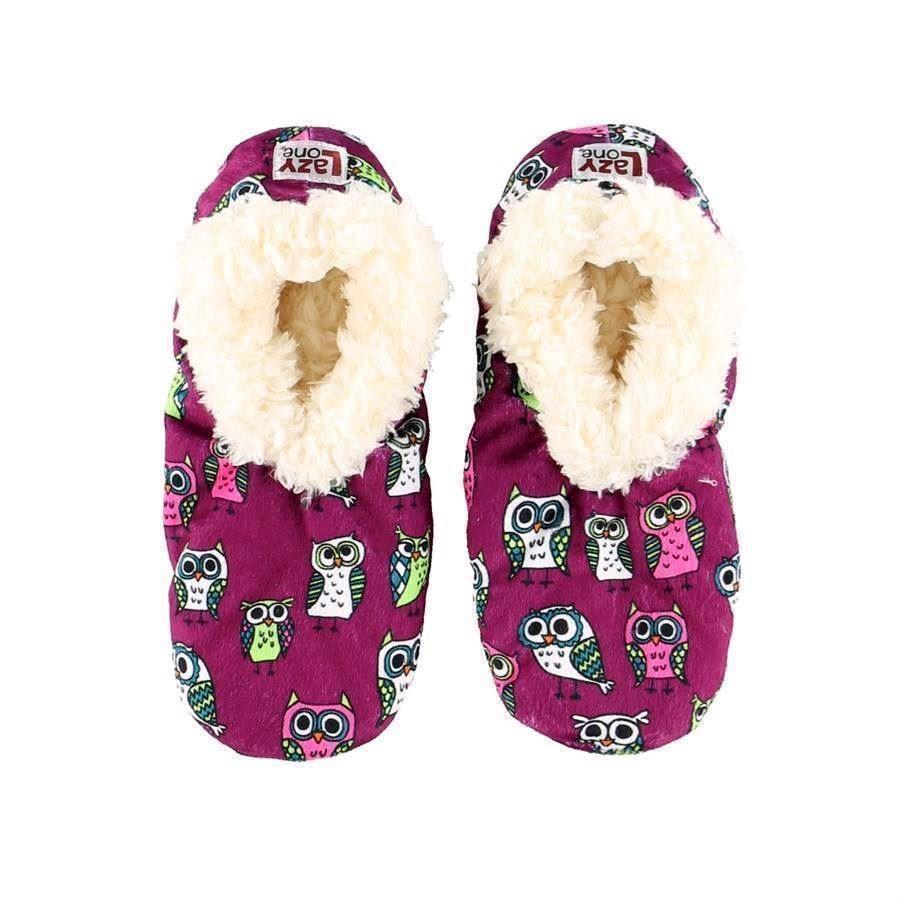 Night Owl Fuzzy Feet Slippers, Adult