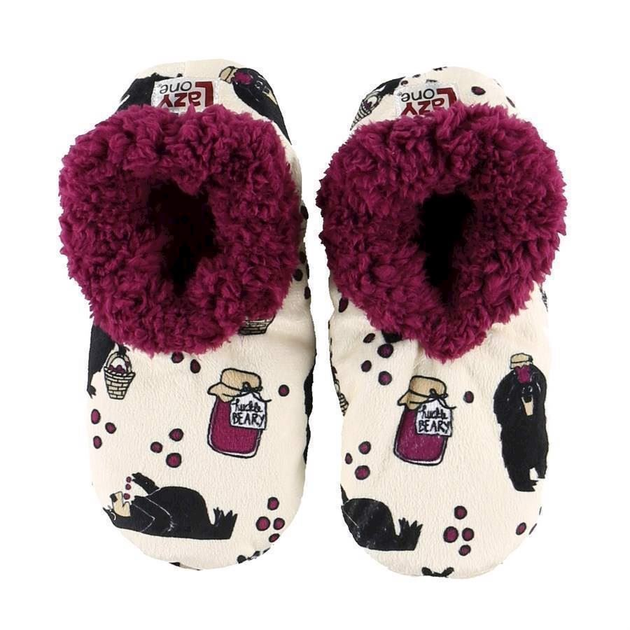 Huckle Berry Fuzzy Feet Slippers, Adult