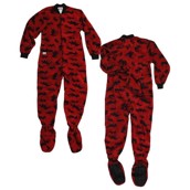 LazyOne Classic Moose Red Footie Onesie Adult