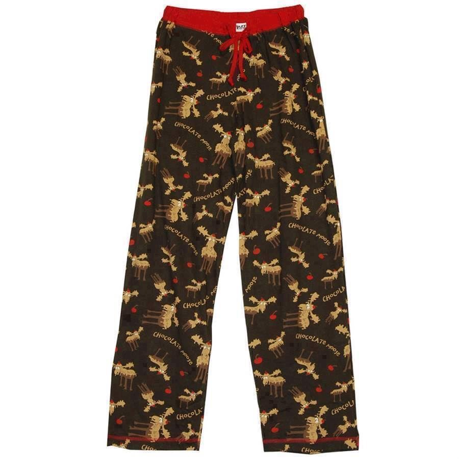 LazyOne Womens Chocolate Moose PJ Trousers