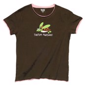 LazyOne Womens Turtley Awesome PJ TShirt