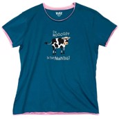 LazyOne Womens Mooody in the Morning PJ TShirt