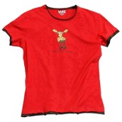 LazyOne Womens Chocolate Moose PJ TShirt