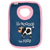 LazyOne Girls Moood for Food Baby Bib