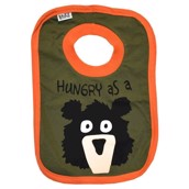 LazyOne Boys Hungry as a Bear Baby Bib