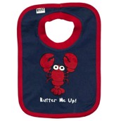 LazyOne Boys Butter Me Up Baby Bib