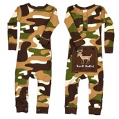 LazyOne Boys Camo Deer Flapjack Infant