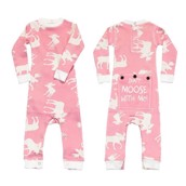 LazyOne Girls Classic Moose Pink Flapjack Infant